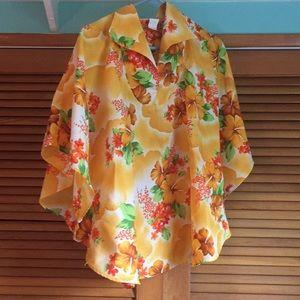 Vintage Kalalani Fashion Hawaiian top